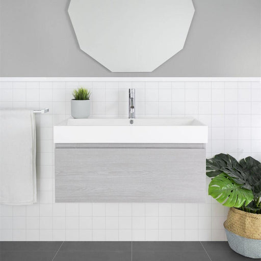 MARQUIS-Marquis San Remo Wall Hung Vanity - Brand_Marquis, Colour_Gloss White, Colour_Matte Grey, Colour_Matte White, Colour_Woodgrain, Product Type_ Wall Hung Vanity, Size_1500mm, Size_750mm, Size_900mm, Vanity Tops_ Polymarble Top-Ideal Bathroom Centre