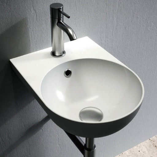 STUDIO BAGNO-Studio Bagno Milady 300mm Basin - Basin, Bathroom, Brand_Studio Bagno, Colour_ Matte Black, Colour_Gloss Black, Colour_Gloss White, Colour_Matte White, Material_Ceramic, Product Type_Wall Hung Basin, Shape & Design_Curve-Ideal Bathroom Centre