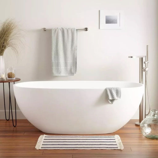 Milano Oval 1530/1700 Freestanding Bath-Matte White