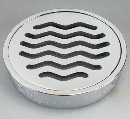Bounty Brassware Classic Ripple Floor Wastes 100MM Round