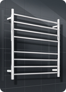 Radiant Round Bar Heated Towel Rails 8 Bar 750x750mm- RTR06