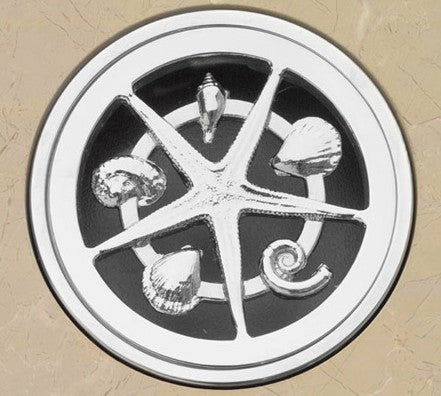 Bounty Brassware Classic Starfish Floor Wastes 80MM Square - Idealbathroomcentre