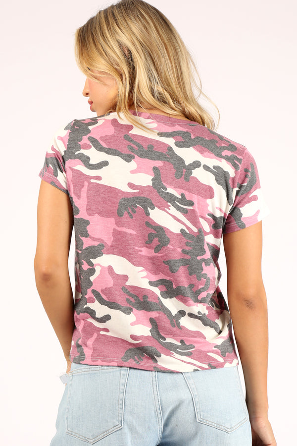 Vintage Orchid Camo Blend Tee