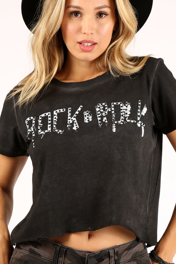 Rock N' Roll Studded Crop Top