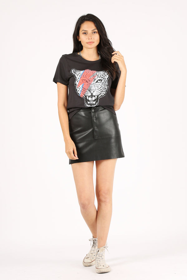 Lightening Tiger Tee - Black