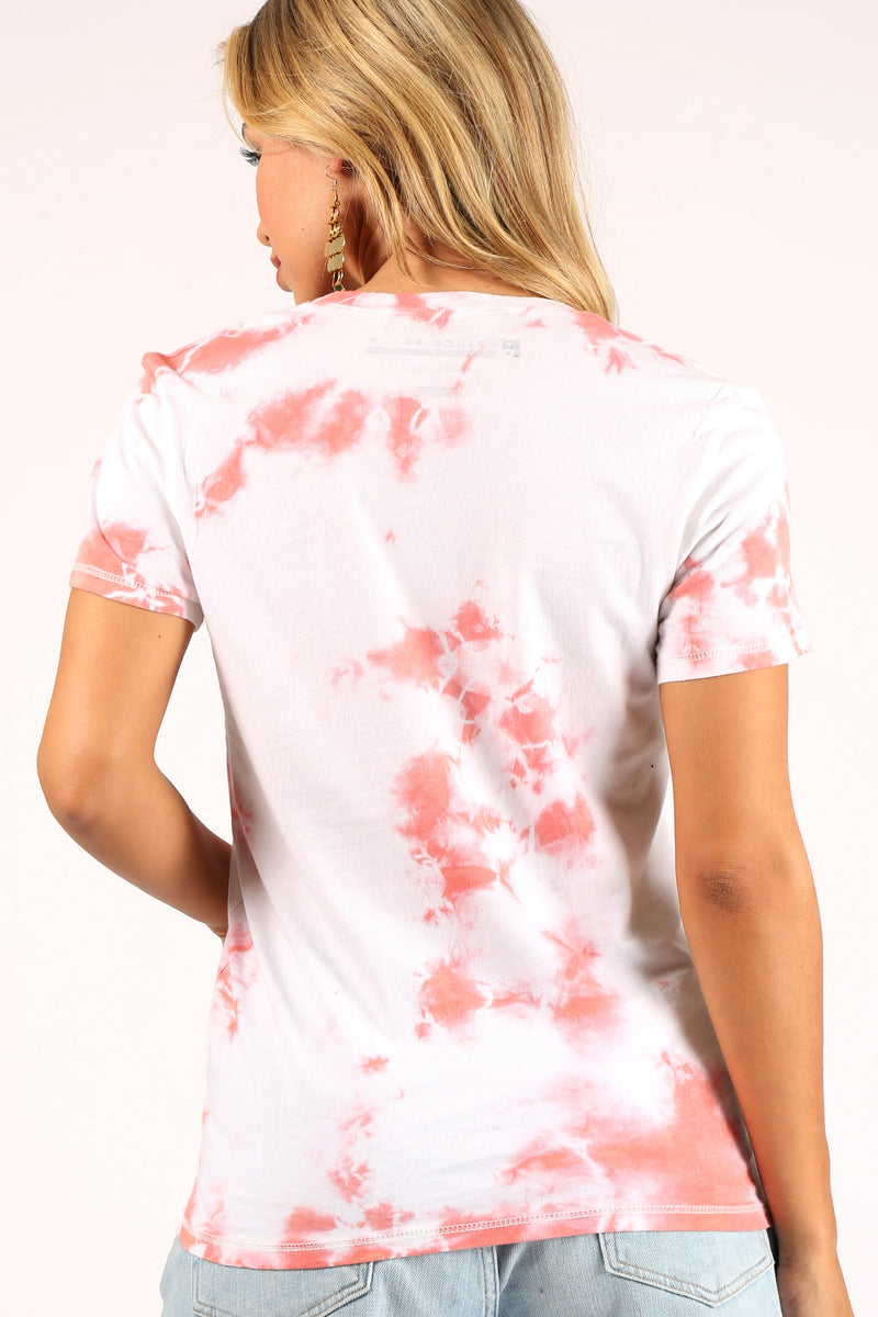 Red Cloud Burst Tie-Dye Tee