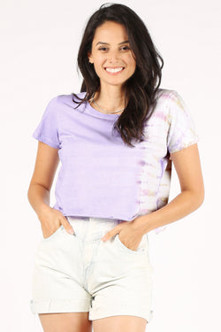 Horizontal Tie-Dye Crop Top