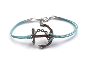 Anchor Wax Cord Bracelet