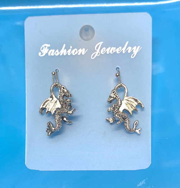 3D Dragon Earrings