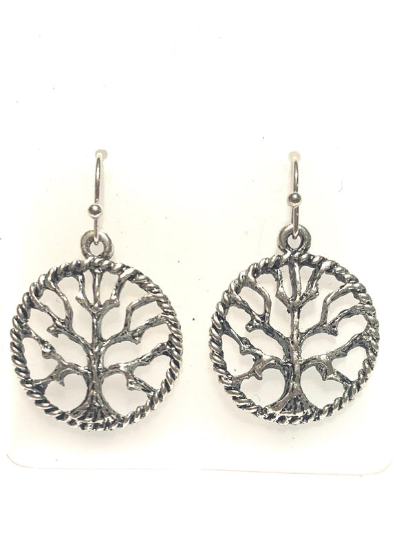 Hollow Tree Of Life Earrings