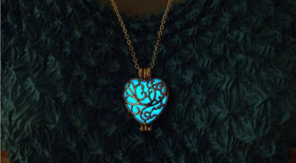Glow in the Dark Heart Locket