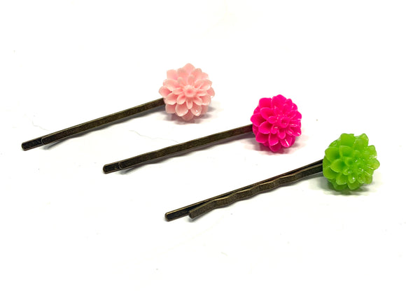 Chrysanthemum Flower Bobby Pin