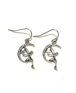 Fairy on Moon Earrings