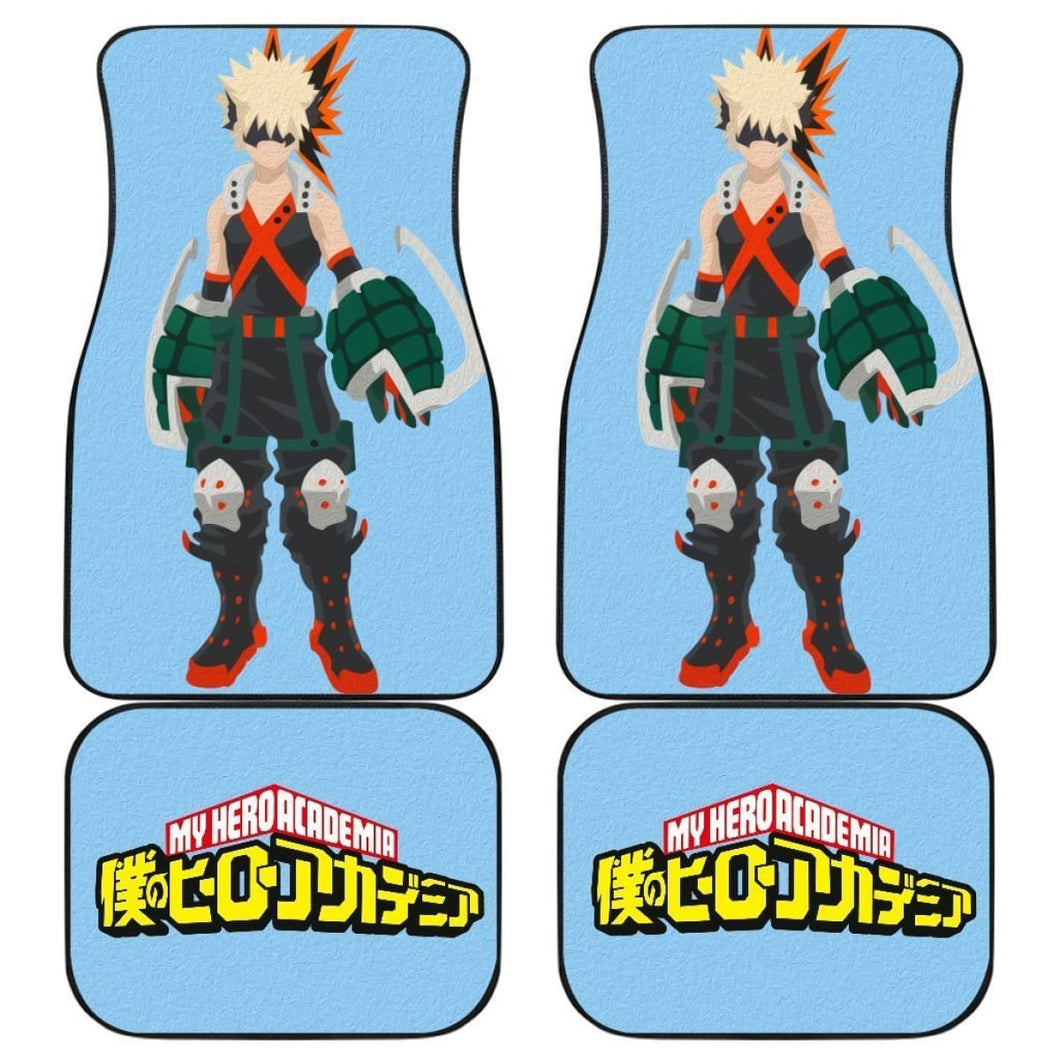 All Mighty Hero My Hero Academia Car Floor Mats For Fan 2 Mn05 Universal Fit 111204 - CarInspirations