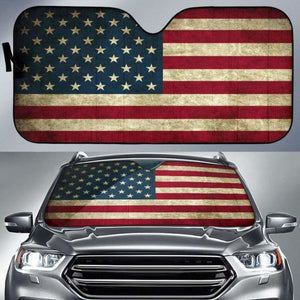 American Flag Auto Sun Shades 918b Universal Fit - CarInspirations