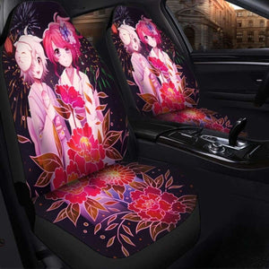 Anime Girl Flower Seat Covers 101719 Universal Fit - CarInspirations
