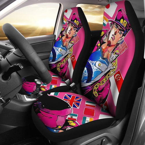 Art Jotaro Car Seat Covers JoJo's Bizarre Adventure Universal Fit 210212 - CarInspirations