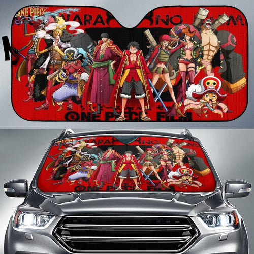 Art Team One Piece Car Sun Shades Anime Fan Gift H033120 Universal Fit 225311 - CarInspirations
