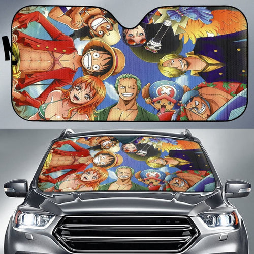 Art Team One Piece Car Sun Shades Cartoon Fan Gift H033120 Universal Fit 225311 - CarInspirations