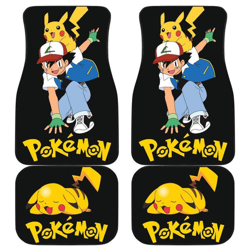 Ask Ketchum & Pikachu Car Floor Mats Pokemon Anime H200221 Universal Fit 225311 - CarInspirations