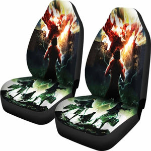Attack On Titan Anime Seat Covers 101719 Universal Fit - CarInspirations