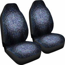 Load image into Gallery viewer, Aztec Symbol Blue Car Seat Covers (Set of 2) Universal Fit - CarInspirations