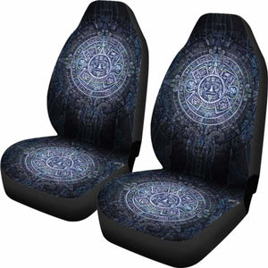 Aztec Symbol Blue Car Seat Covers (Set of 2) Universal Fit - CarInspirations