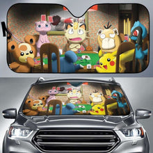 Load image into Gallery viewer, Azurill Marill Mew Pikachu Pokemon Auto Sun Shades 918b Universal Fit - CarInspirations