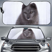 Load image into Gallery viewer, Black Arctic Fox Car Auto Sun Shade 211626 Universal Fit - CarInspirations
