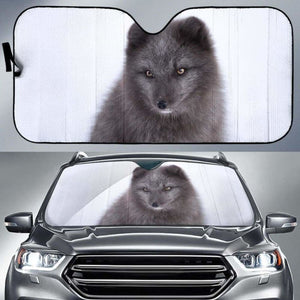 Black Arctic Fox Car Auto Sun Shade 211626 Universal Fit - CarInspirations