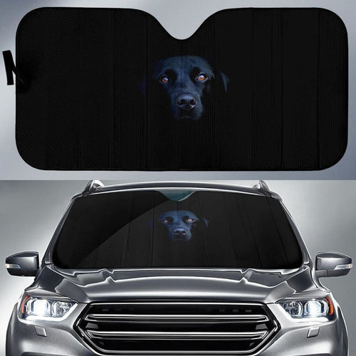 Black Labrador Labrador Retriever Breed Dog Dark Hd Car Sun Shade Universal Fit 225311 - CarInspirations