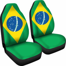 Load image into Gallery viewer, Brazil Flag Car Seat Covers 100421 Universal Fit - CarInspirations