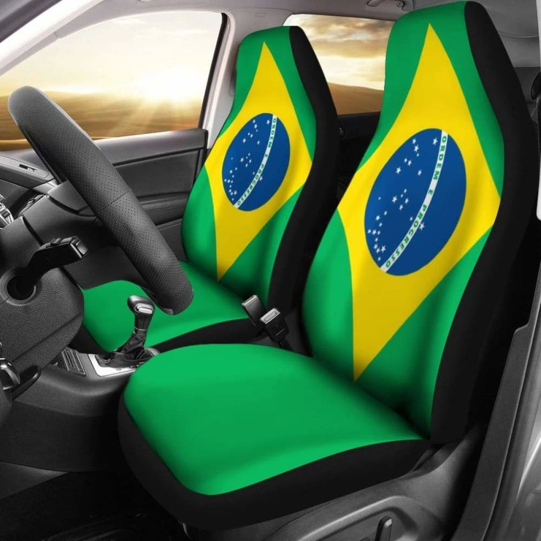 Brazil Flag Car Seat Covers 100421 Universal Fit - CarInspirations