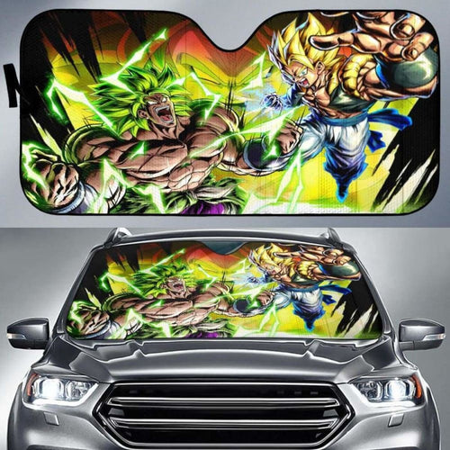 Broly Vs Gogeta Car Auto Sun Shades Universal Fit 051312 - CarInspirations