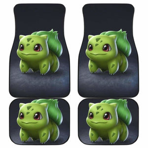 Bulbasaur Cute Pokemon In Dark Theme Car Floor Mats Universal Fit 051012 - CarInspirations