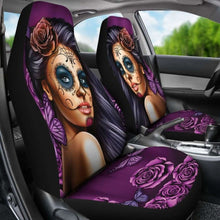 Load image into Gallery viewer, Calavera Purple Car Seat Covers (Set of 2) Universal Fit - CarInspirations