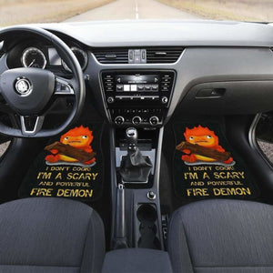 Calcifer Ghibli In Black Theme Car Floor Mats Universal Fit 051012 - CarInspirations