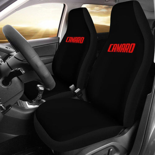 Camaro Red Letter Seat Covers Universal Fit 225721 - CarInspirations