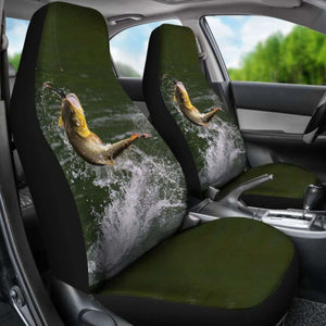 Car Seat Covers - Bass Fishing 234929 Universal Fit - CarInspirations