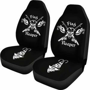 Car Seat Covers - Fishing Reaper 234929 Universal Fit - CarInspirations