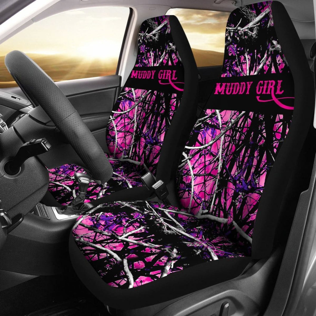 Car Seat Covers - Muddy Girl Camo Universal Fit 195417 - CarInspirations