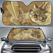 Load image into Gallery viewer, Cat Book Car Sun Shades 918b Universal Fit - CarInspirations