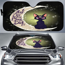 Load image into Gallery viewer, Cat Love Moon And Back Car Sun Shades 918b Universal Fit - CarInspirations