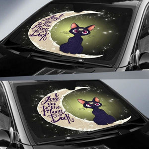 Cat Love Moon And Back Car Sun Shades 918b Universal Fit - CarInspirations