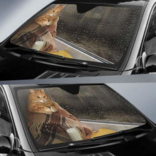Load image into Gallery viewer, Cat Milk Book Window Car Sun Shades 918b Universal Fit - CarInspirations