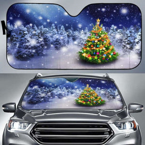 Christmas Tree Car Sun Shades 918b Universal Fit - CarInspirations