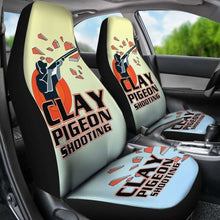 Load image into Gallery viewer, Clay Pigeon Shooting Car Seat Covers Universal Fit 051012 - CarInspirations