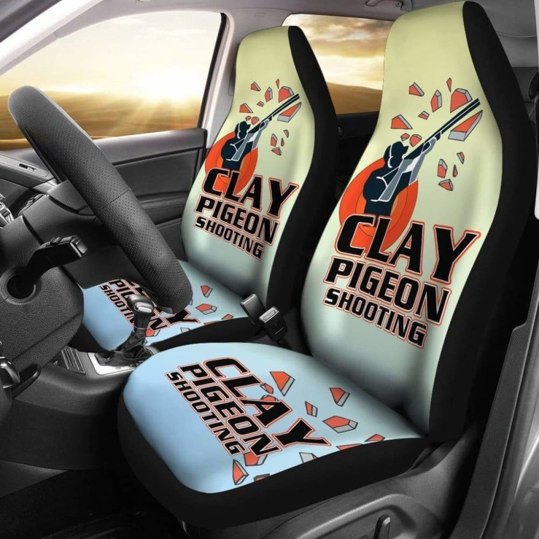 Clay Pigeon Shooting Car Seat Covers Universal Fit 051012 - CarInspirations