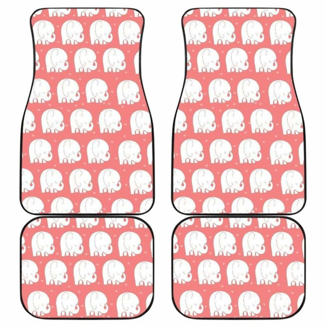 Cute Elephant Chibi Funny In Pink Theme Car Floor Mats Universal Fit 051012 - CarInspirations