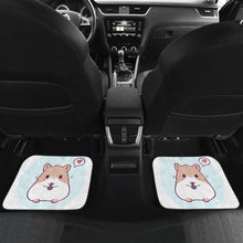 Load image into Gallery viewer, Cute Hamster Chibi In White Theme Car Floor Mats Universal Fit 051012 - CarInspirations